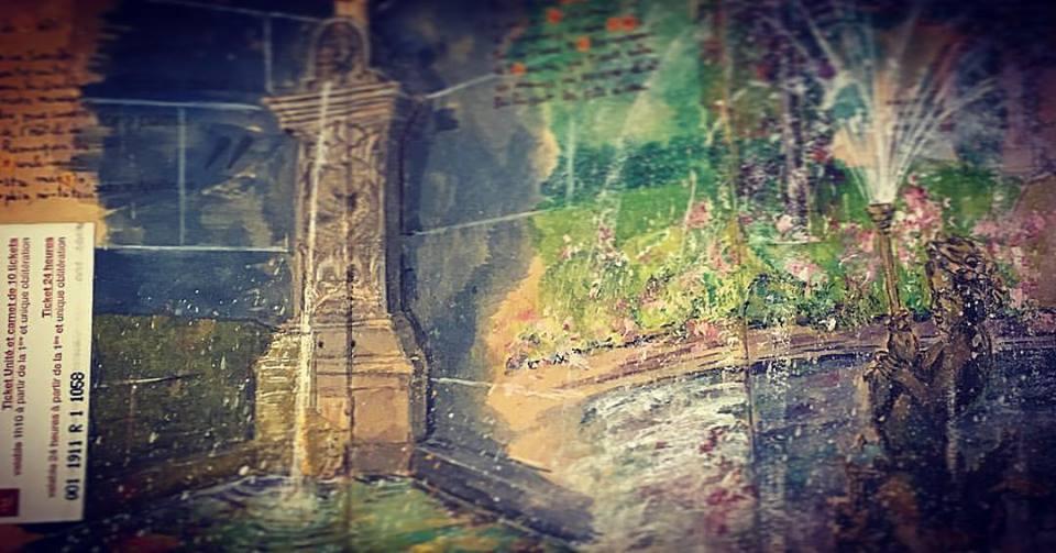 Fontaine de l'Hotel da Ville et bassin de la Roserie - Clermont Ferrand